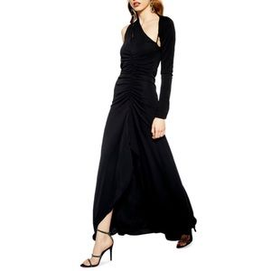 NWT Topshop Asymmetrical One Sleeve Maxi Dress